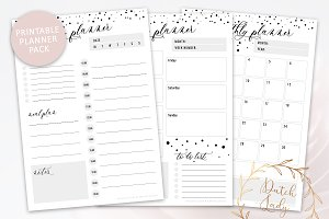 Printable Planner Pack - Dotted