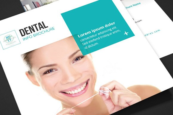 Dental Square Trifold Brochure Brochure Templates Creative Market