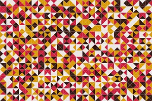Mosaic triangle tiles flooring or wa