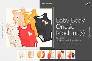 Baby Body Onesie Mock-ups Generator
