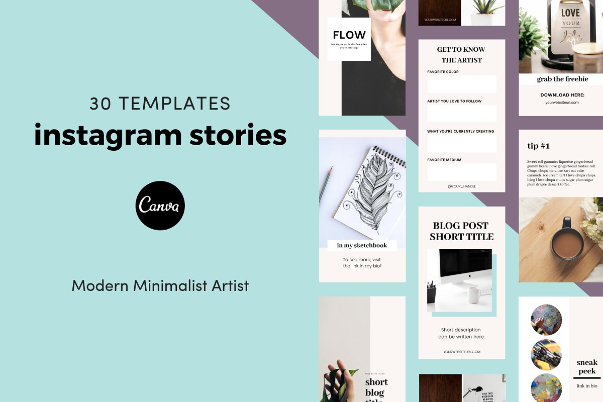 Canva Instagram Stories for Artists ~ Instagram Templates ~ Creative
