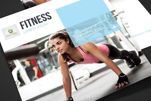 Fitness - Square Trifold Brochure