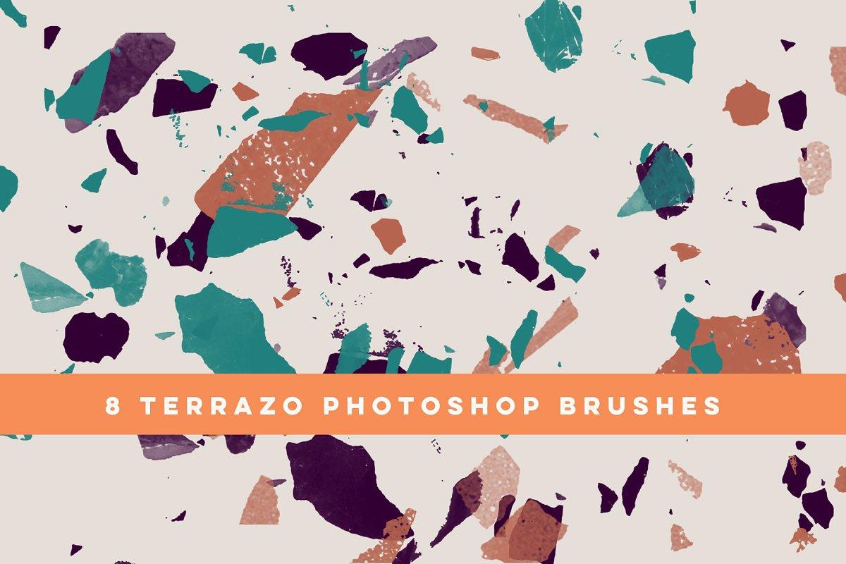 8 Terrazzo Photoshop Brushes ~ Photoshop Add-Ons ~ Creative