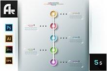 Modern Infographics Timeline