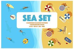 Sea Set (Patterns & Illustration)