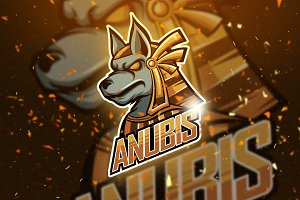 Anubis - Mascot & Logo Esport