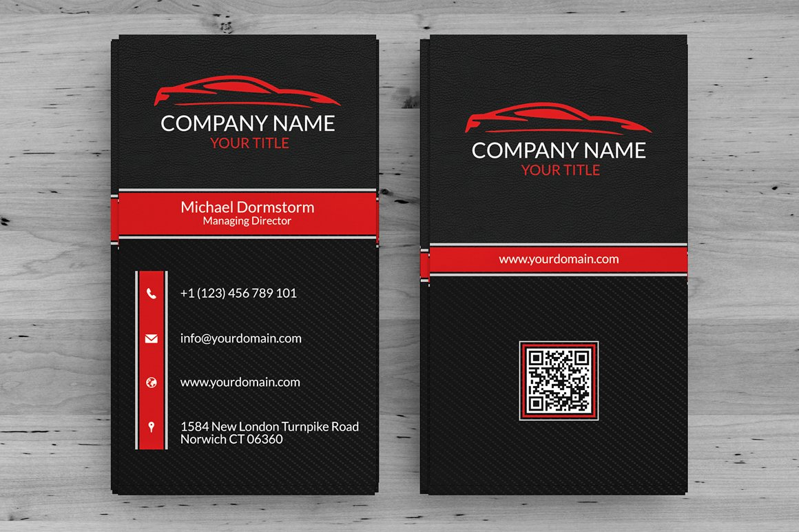 automotive business card business card templates