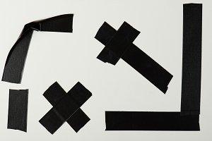 Black tape pieces