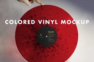 Colored Vinyl Record Mockup