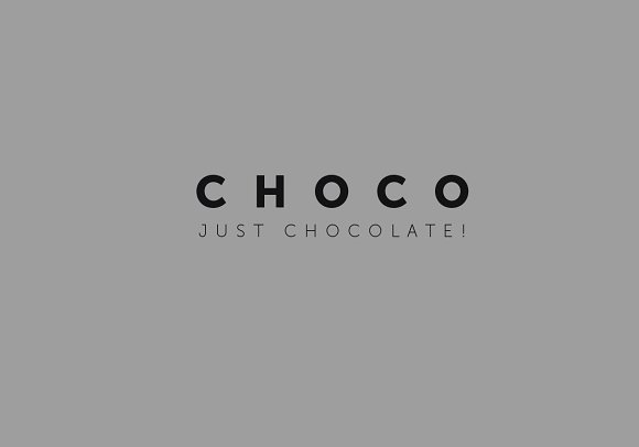 Logo template. Chocolate in Objects