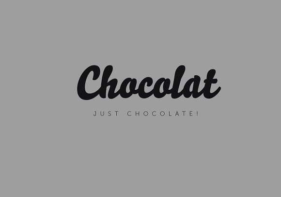 Logo template. Chocolate in Objects - product preview 3