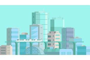 City landscape. Modern architecture