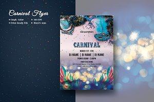 Carnival   Mardi Gras Flyer V957