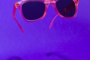 Pink floating in the air sunglasses