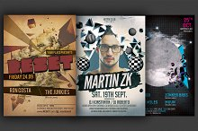 Minimal Party Flyer Template Bundle
