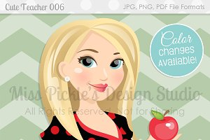 Cute Teacher 006- Character Graphic