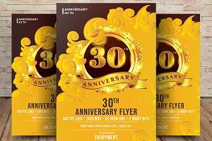 30th Anniversary Invitation Card