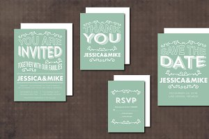Wedding Invitation Suite Swirl