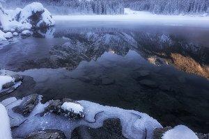 Winter at Fusine lake