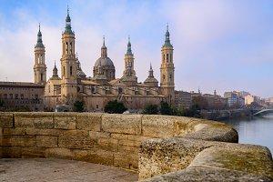 View of Basilica Pilar in Zaragoza ,