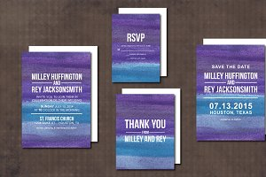 Wedding Invitation Suite abstract
