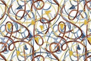Chain and Belts - Seamless Pattern