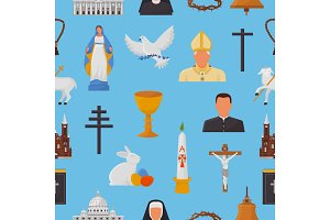 Christian icons vector christianity