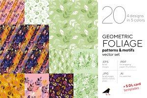 Geometric Foliage Pattern Collection