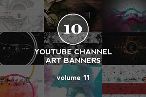10 Youtube Channel Art Banners vol11