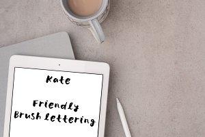 Kate font - friendly brush lettering