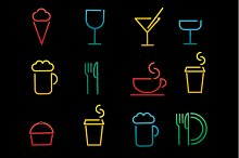 drink icons with different beverage