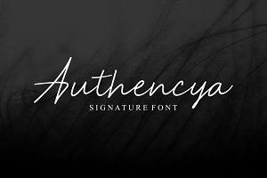Authencya | Signature Font