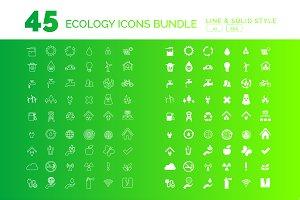 Renewable Energy Icons Set - 50% OFF