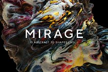 Mirage Vol. 1: Abstract 3D Shapes by  in Textures