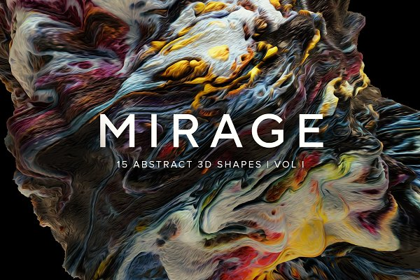 Textures: RuleByArt - Mirage Vol. 1: Abstract 3D Shapes