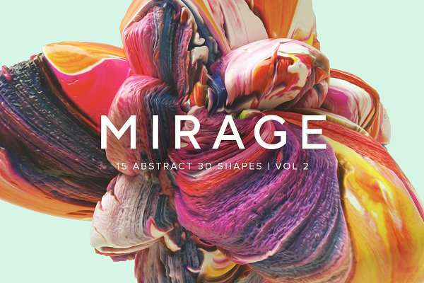 Textures: RuleByArt - Mirage, Vol. 2: Abstract 3D Shapes