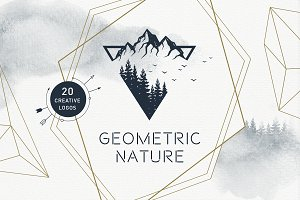 Geometric Nature. 20 Greative Logos