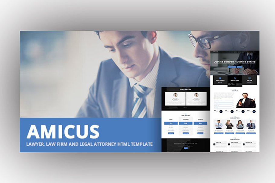 AMICUS - Lawyer & Law Firm Template