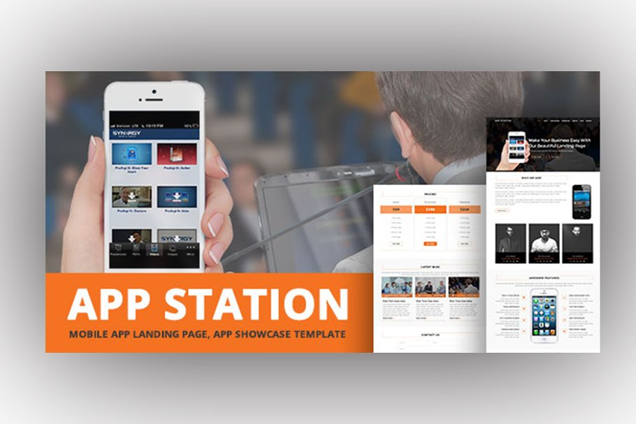AppStation - Mobile App Landing Page
