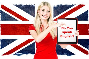 British english learning concept