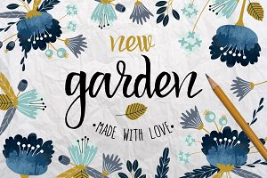 New Garden. Autumn floral collection