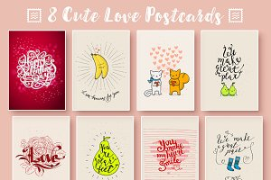 8 Funny cards on love theme