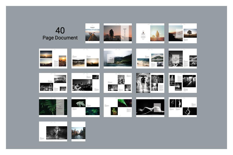 دانلود قالب آماده پورتفولیوی عکاسی با فرمت ایندیزاین (پکیج 2)