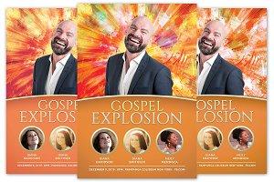 Gospel Explosion Church Flyer