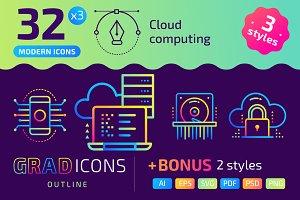 32+ Cloud computing : : GRADICONS