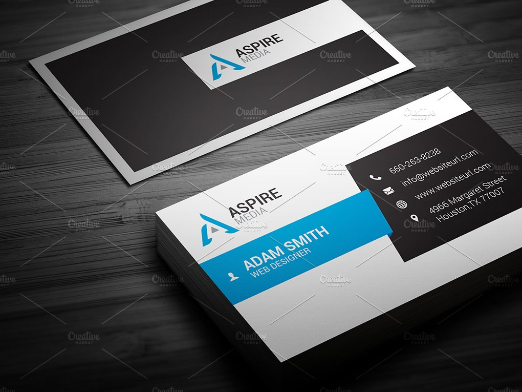 Clean Business Card Template ~ Business Card Templates ~ Creative Market