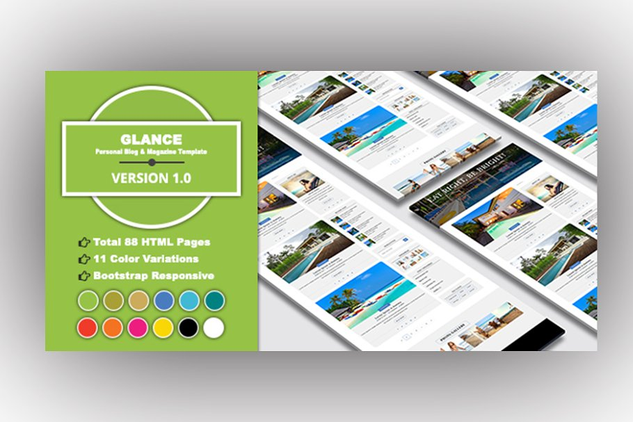 GLANCE - Personal Blog Template