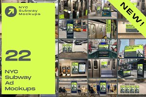 SALE 50% OFF 22 Mockups - NYC Subway