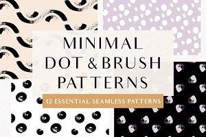 Minimal Dot/Brush Seamless Patterns