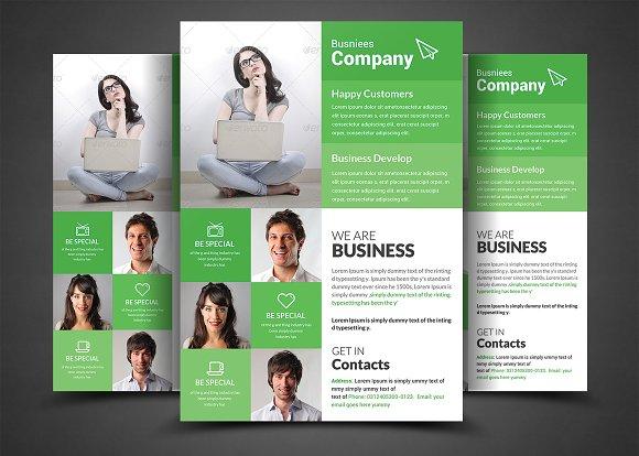 A4 Corporate Business Flyer Template Flyer Templates Creative Market